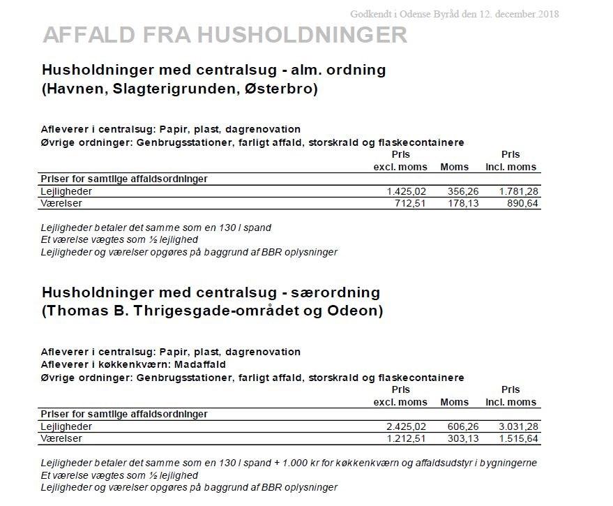 0fb9b3f2 Størrelser og priser for private - Odense Renovation